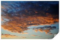 Clouds at Dawn, Print