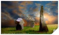 Sunset Stones, Print