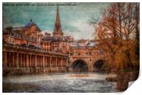 Pultney Bridge, Print