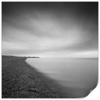 Aldeburgh beach at dawn, looking towards Sizewell,, Print
