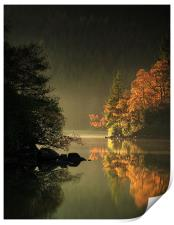 Loch Ard Autumn Light, Print