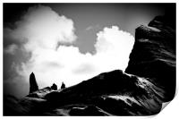 Old Man of Storr Silhouette, Print