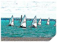 Solent sail boats, Print