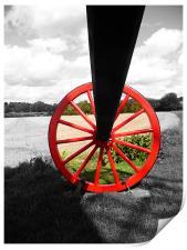 Pitstone Windmill Wheel, Print