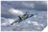 Avro vulcan bomber xh558 at Abingdon air show., Print