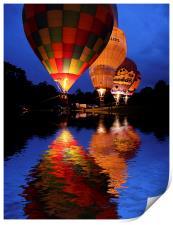 Hot air Balloon, Print