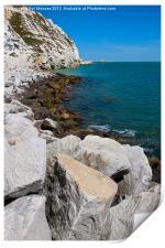Cliffs at Samphire Hoe, Print