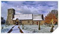 St Margarets in Wintertime, Print