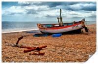 Aldeburgh Fishing Boat, Print