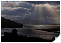 Eilean Donan Castle Sun Rays, Print