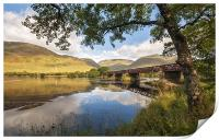 Railway Viaduct Over River Orchy, Print