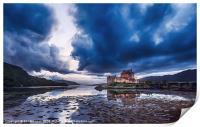 Stormy Skies Eilean Donan Castle, Print