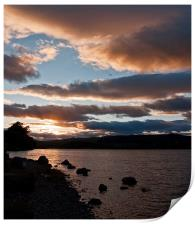 As The Sun Sets Over Loch Rannoch, Print