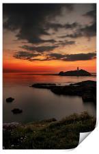 Godrevy sunset, Print