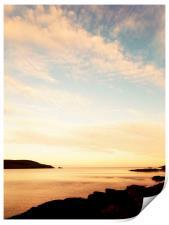Shetland sunset, Print