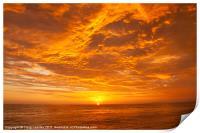 Pacific Sunset, Print