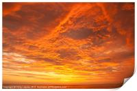 Sunset over the Pacific Ocean, Print