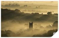 Bradninch in the Mist, Print