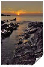 Lee Bay sunset, Print