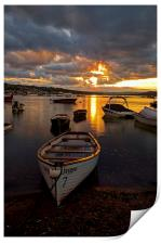 Sunset at Teignmouth, Print