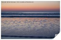 Sunset at Woolacombe, Print