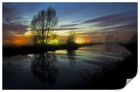 Exeter Canal at twlight, Print