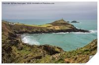 Cape Cornwall from Kenidjack Castle, Print