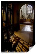 In The Shadows, Norwich Cathedral, Print