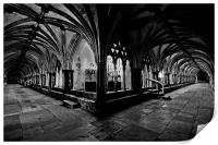 Norwich Cathedral Cloisters, Print