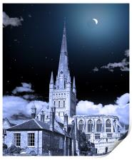 NORWICH CATHEDRAL ECLIPSE, Print