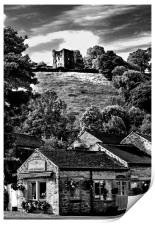The Three Roofs Cafe Castleton, Print