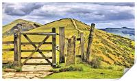 The Great Ridge Castleton In The Peak District., Print