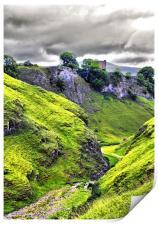 Cavedale, Castleton, Derbyshire., Print