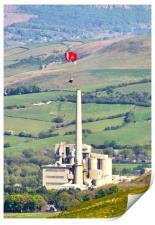 Paragliding at Castleton, Print