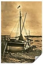 Sailing barge, Print