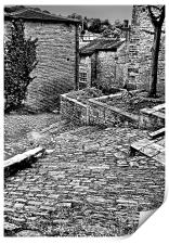 Back Alley, Holmfirth, Print