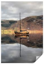 Sailing Boat On Loch Leven, Print