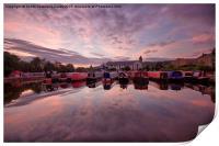 Apperley Bridge Marina, Print