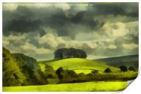 Lady Hill, Hawes, Digital Art, Print