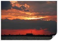 Sunset over Portsmouth, Print