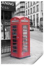 Red Telephone Box, London, Print