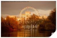 St. James's Park and the London Eye, Print