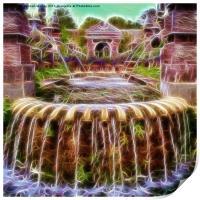 Arundel Castle Garden Pond, Print