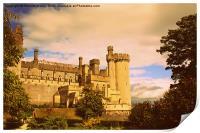 Arundel Castle Sunset, Print