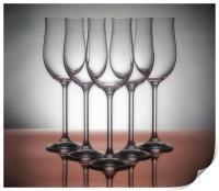 Wine glasses, Print