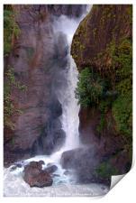Crashing Waterfall into Marsyangdi River, Print