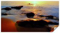 Sunrise On Rocks, Print