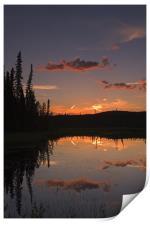 Yukon night III, Print