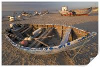 Fishing boat, Print
