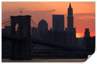 New York sunset, Print